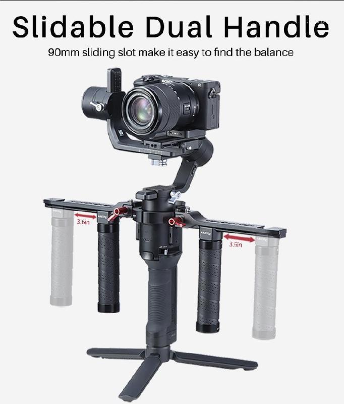 Estabilizador de punho duplo para DJI Ronin S / SC Camera ajustável estendido handlebar1