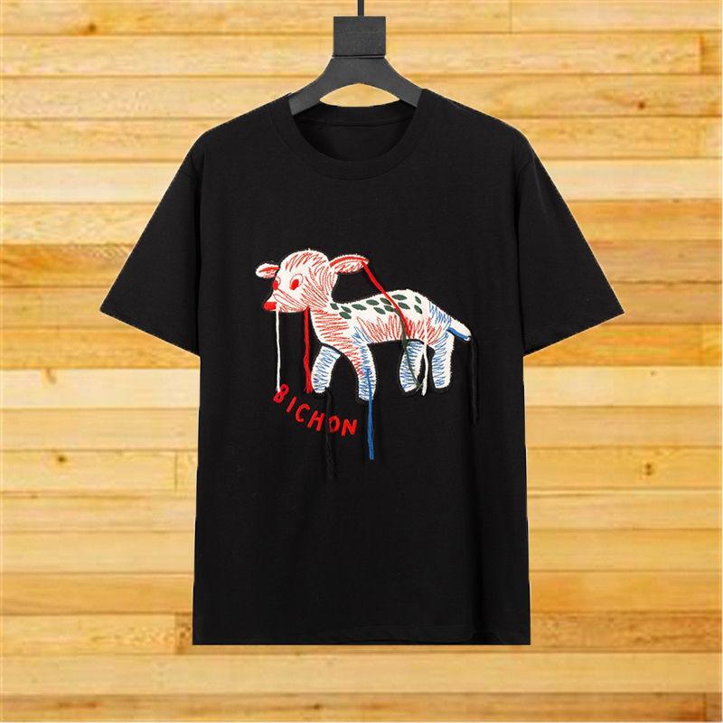 Moda Stilist Kadın T Shirt 2021 Nakış Püskül Kısa Kollu Gömlek Erkekler Kadınlar Çiftler Rahat Pamuk Tees