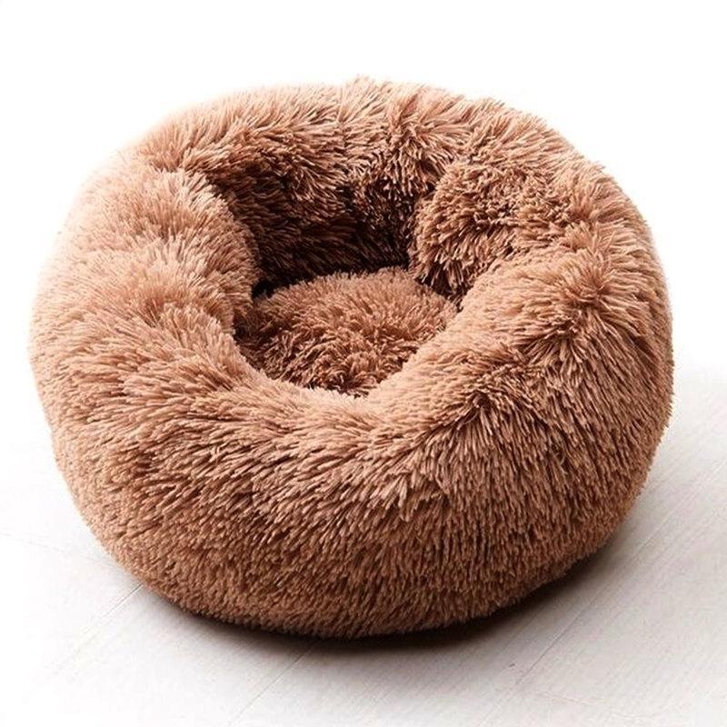 Willstar Собачья кровать зима теплые длинные плюшевые спальные кровати Solid Color мягкие домашние собаки кота коврик Cat Cuushion Dropshipping 201125