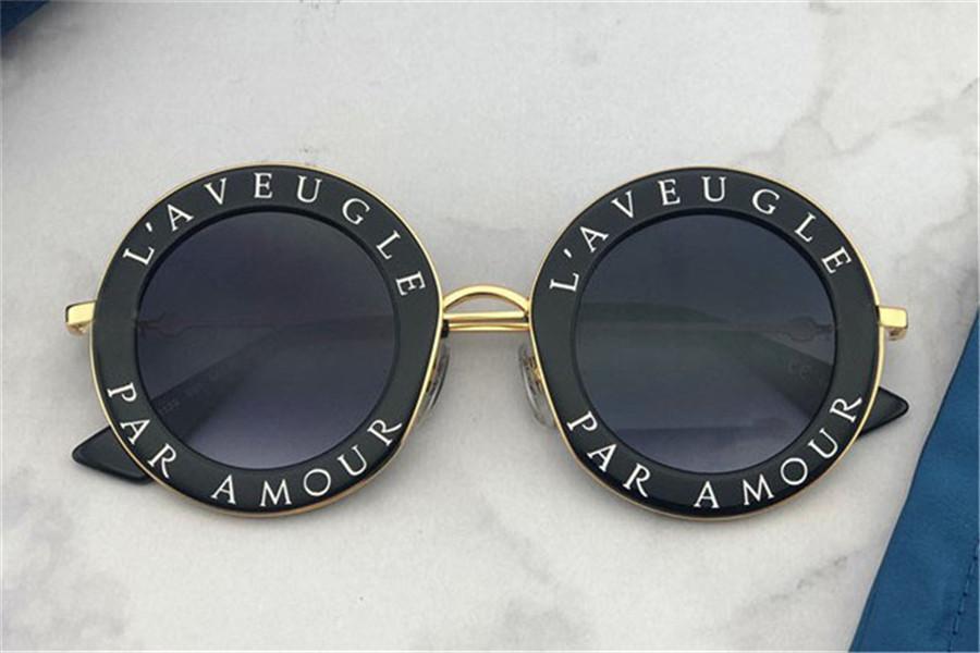 Klassischer Stil Runde Vintage Brief Design Rahmen mit goldenen Bienenqualität UV400 Schutz im Freien Sommer Eyewear 0113