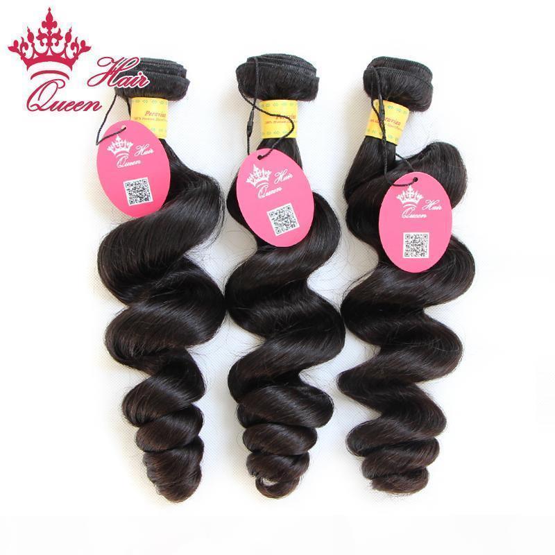 """Queen Hair Gemischte Länge 12 """"-28"""" 3 stücke Lot Peruanische jungfrau Menschenhaarverlängerungen Natürliche Farbe # 1B Lose Welle 300g Lot"""