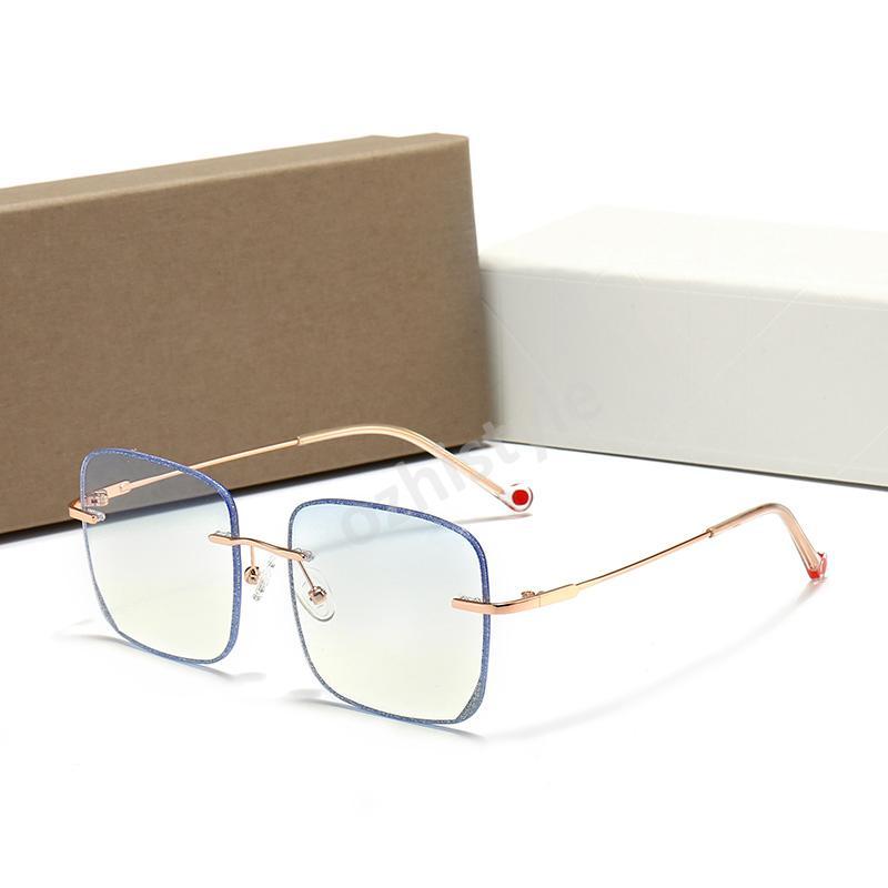Occhiali da sole ovali classici Uomo Donna Brand Designer in lega cornice vintage Eyewear Guidare unisex occhiali da sole con casi e scatola gratuiti W5