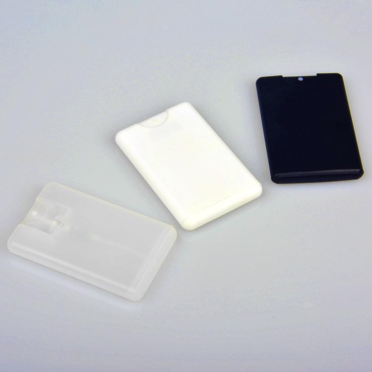 Promotion Leer 20ml Kunststoff Schwarz Kreditkarte Form-Taschen Parfümflasche Frauen kosmetischer Behälter Kleines Spray GH974
