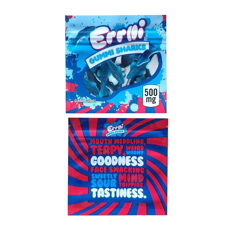 Errlli Gummi Köpekbaları Çanta Ambalaj 500 mg Airheads Trolli Trilli Dank Gummies Yaylar Paket Koku Geçirmez Geziler Ahoy Çerezler 3.5g Baggies