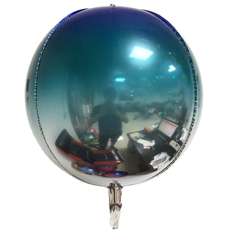 Большой размер 22-дюймовый фестиваль воздушный шар градиентные цвета алюминиевые пленки морщины радужные воздушные шары для партийных украшений 1 8je e19