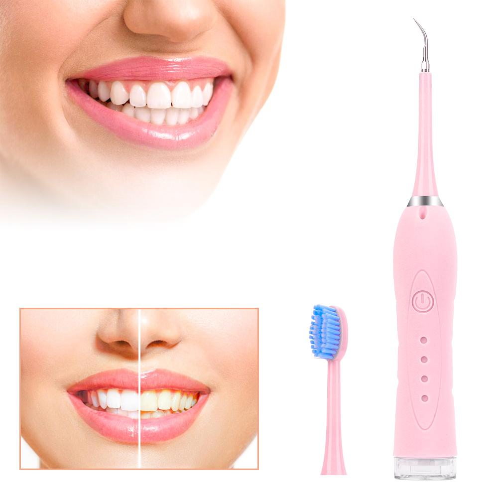 High Frequency Vibration Electric Calculus Remover Teeth Whitening Cleaning Dental Tartar Scraper Tooth Polisher Stain Oral Tool
