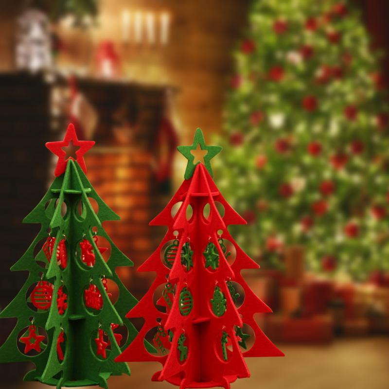 Feltro albero tridimensionale Decorazione albero di Natale Set Bambini regalo di natale fai da te feltro decorazione di arte di Natale