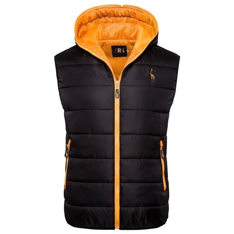 2019 Chaqueta Nueva jirafa Marca invierno chaqueta sin mangas del chaleco de los hombres Hoodied hombres para hombre de la cremallera del invierno ocasional del chaleco de los hombres
