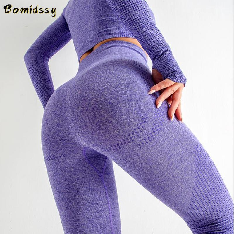 Femme de remise en forme pour femmes vêtements de sport sans soudure de sport de sport Soutien-gorge à manches courtes / longues T-shirt de remise en forme et de pantalon de remise en forme Yoga J1224