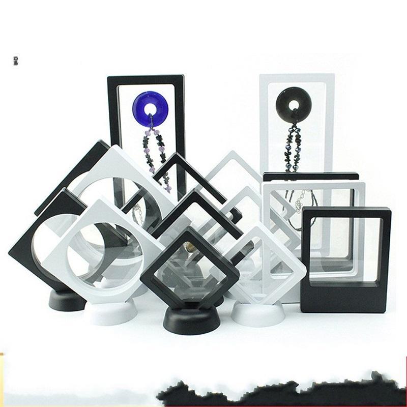 عطف العائمة عرض مجوهرات مربع pe فيلم تغليف صناديق حلقة قلادة الخرز حالة تخزين جديدة 1 6xm3 k2