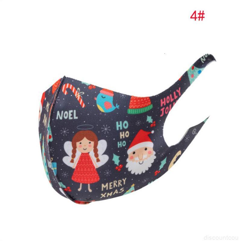 Dustfog Elk Hot Claus Snowman Staubdichte Weihnachten Santa Eis Seide Baumwolle Cover Gesicht Maske Unisex Erwachsene E0