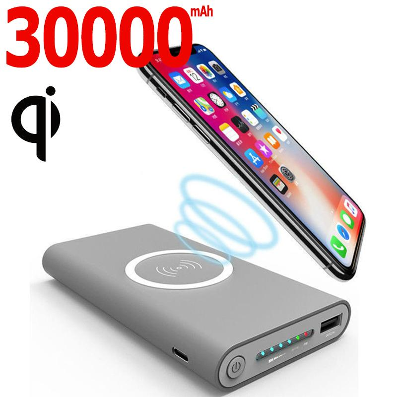 Wireless Mobile Alimentation 30000MAh Chargeur Portable Outdoor Chargeur mobile d'urgence Voyage Smartphone Chargeur rapide Livraison gratuite