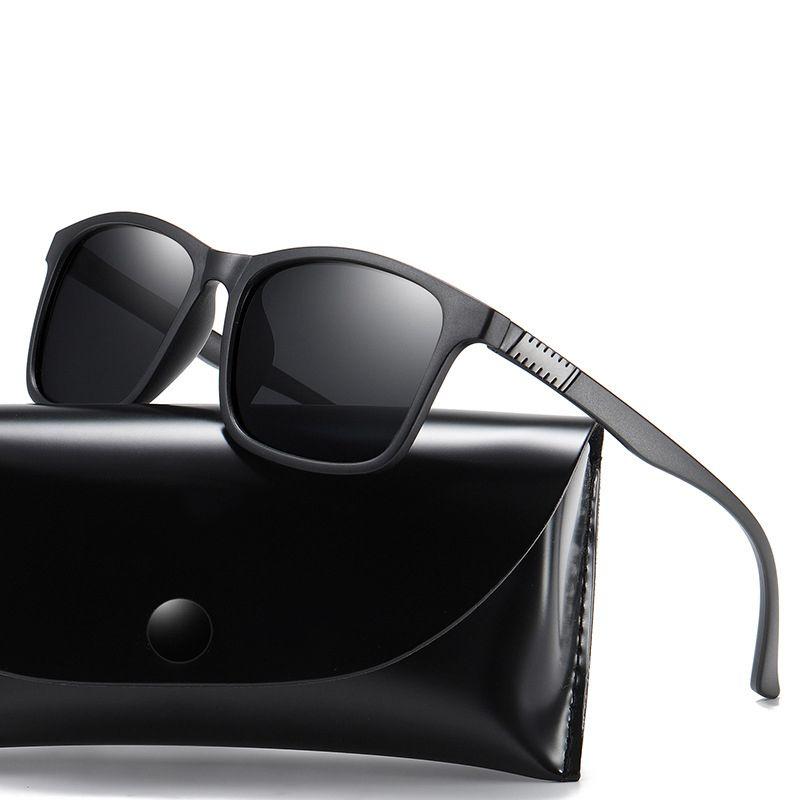 2020 yeni Vintage Retro Güneş gözlüğü Erkekler Polarize Kare Marka Tasarımcı Güneş Gözlükleri İçin Erkekler Sürücü Sunglass UV400 Gözlükler