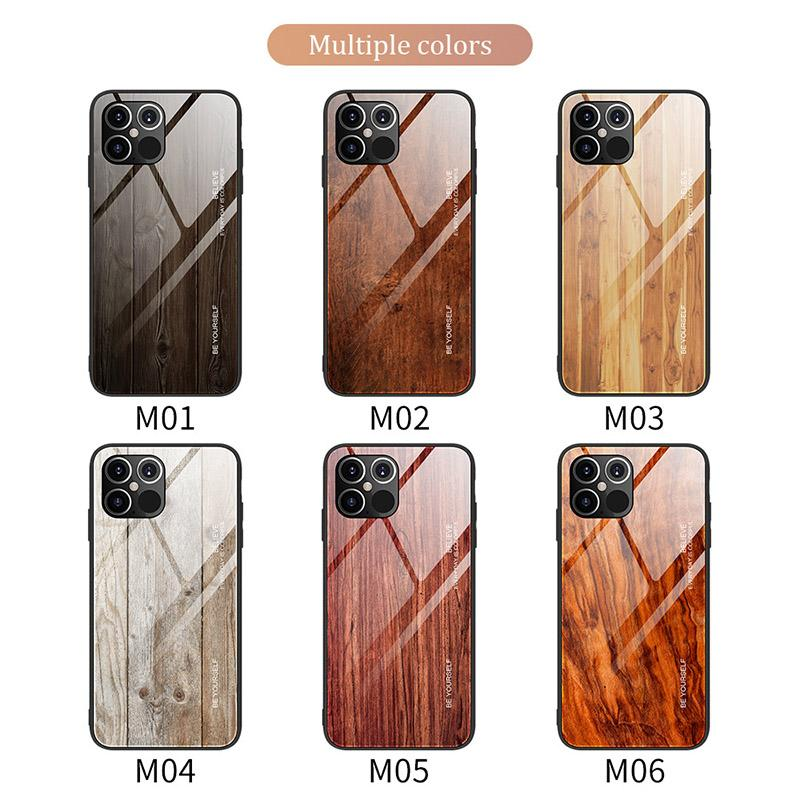 Ağaç Damarı Darbeye Cam Telefon Kılıfı iPhone 12 mini / 12/12 Pro / 12 Pro Max 11 Pro Max XS XR XS MAX