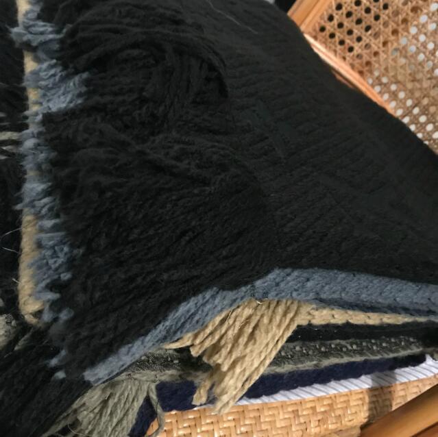 Nueva bufanda de invierno unisex 100% bufanda de lana clásica letra envoltura unisex damas y niños cacheméril chal chal lame chales Original bufanda 01