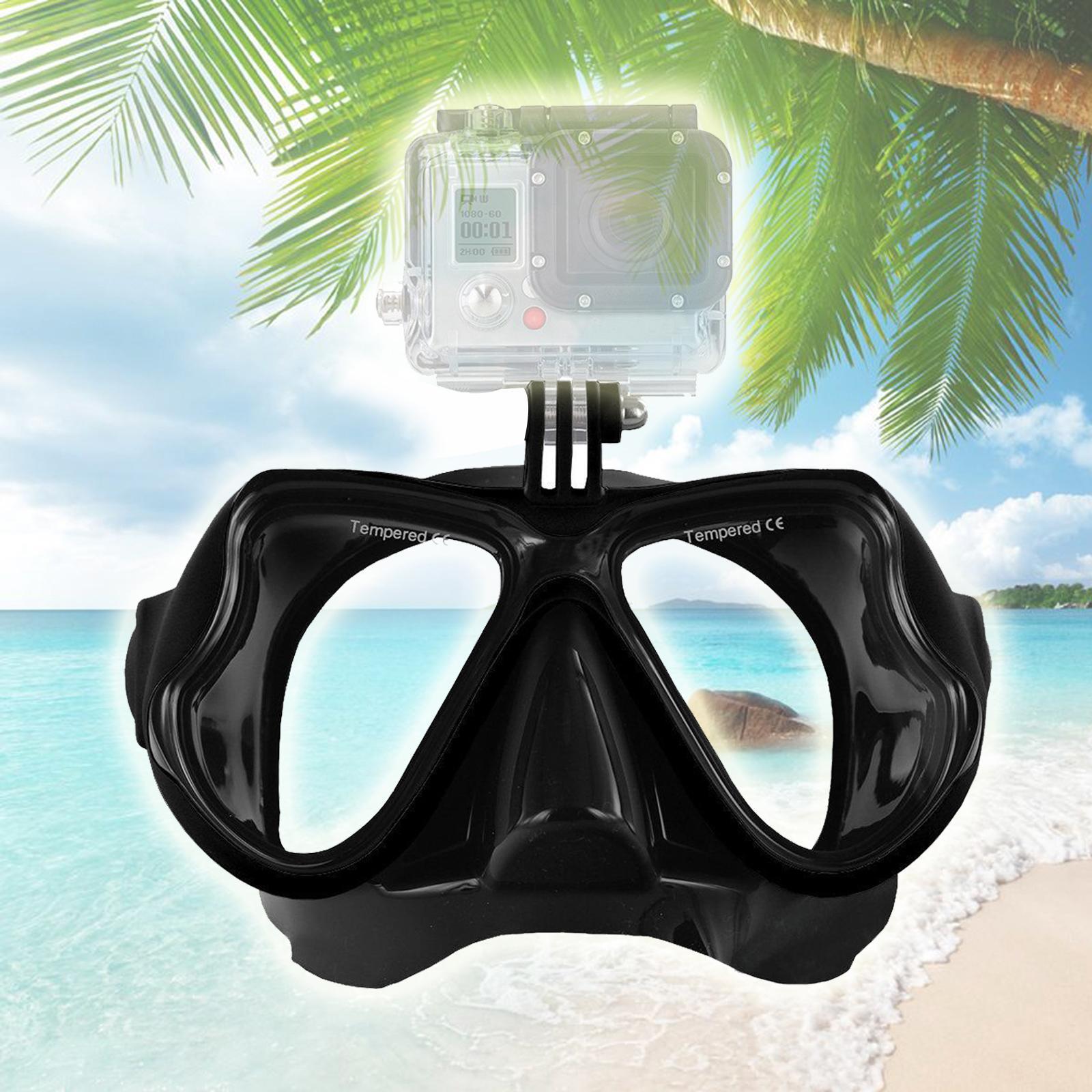 Areyourshop Fitness Nero Diving Mask scuba snorkel Occhiali Viso Occhiali da vista Monte forma per GoPro Eroe Sporting Goods Accessori Ricambi