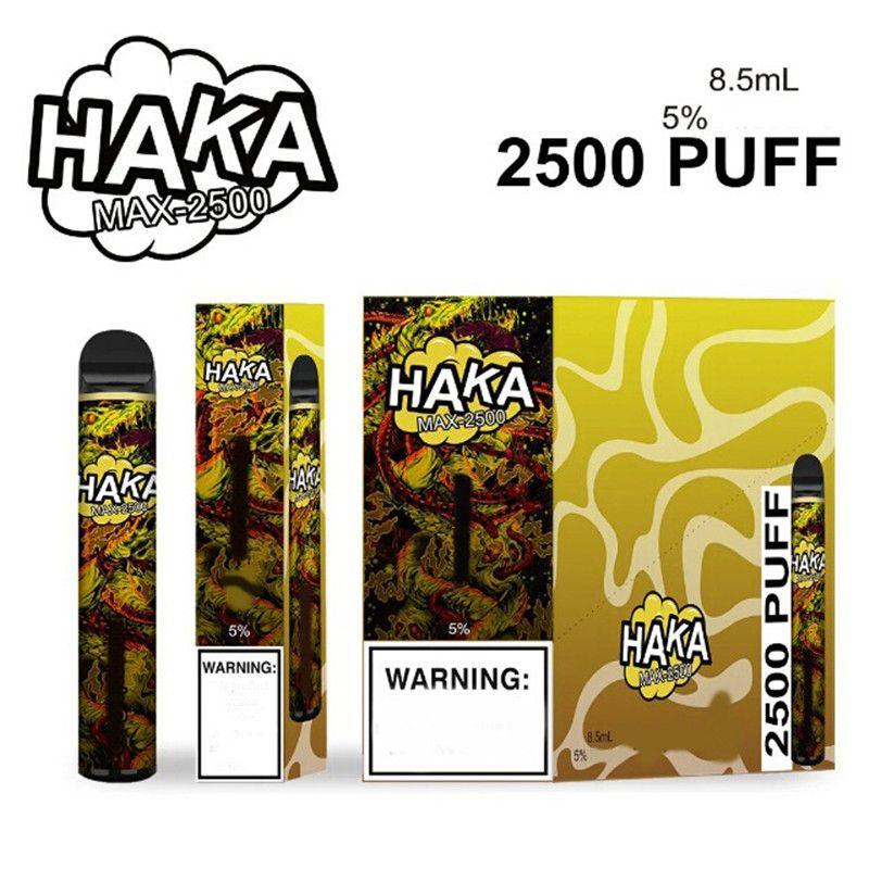 Kit del dispositivo Pod monouso Originale HAKA MAX 2500 Blows 1350mAh Batteria 8.5ml PAPAPA PAPE PREFILLATO PER XXL PLUS FLOW 100% AUTENTICO