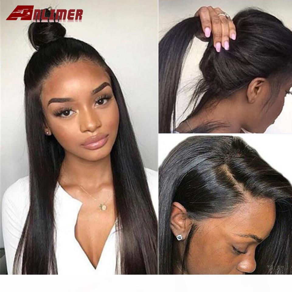 Glueless Full Lace Human Hair Wigs Pre Plucked Natural Hairline With Baby Hair Brazilian Remy Straight Human Hair Wigs
