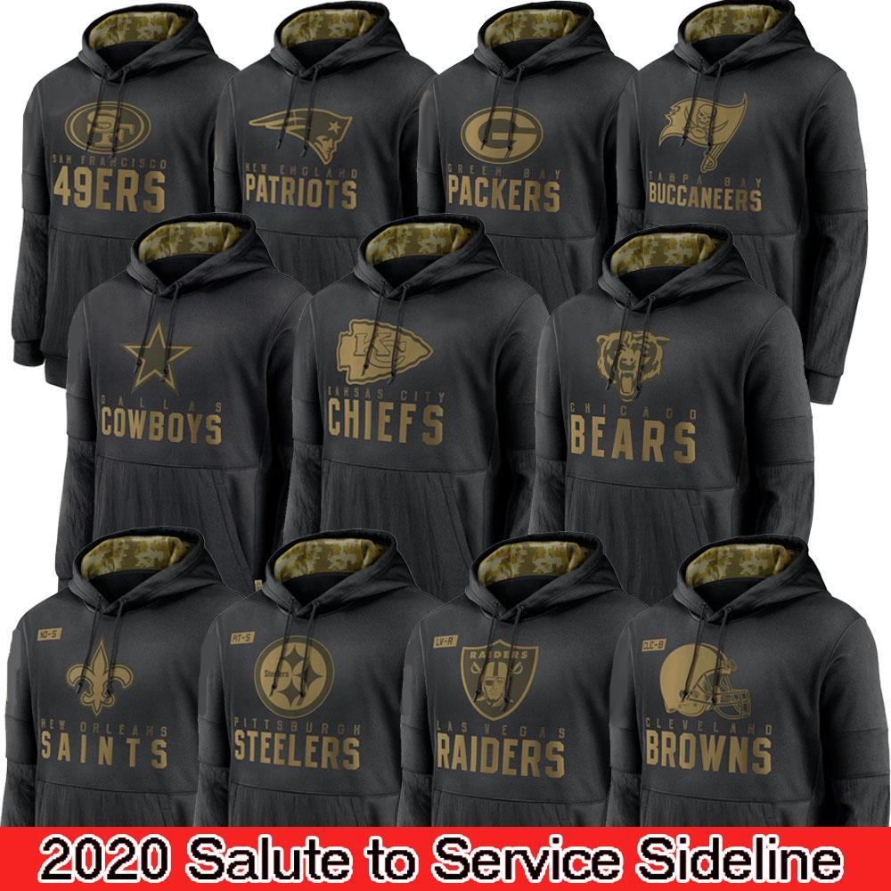 Patrick Mahomes Brady 2020 Salute per servire Felpa con cappuccio Seattle SeattleSeahawk Chicago.Bear New England.Patriot Brown.