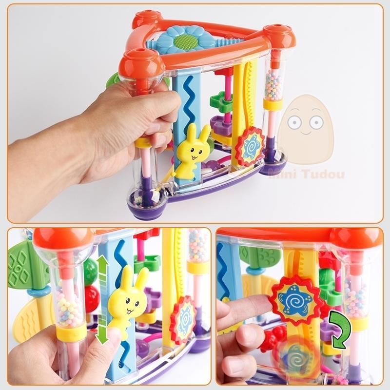 Für Baby 0-12 Monate Tätigkeitsspiel Würfel Säuglingsentwicklung Pädagogisches Hängen Spielzeug Neugeborenen Rasselspielzeug Neugeborene Jungen Mädchen Y200111