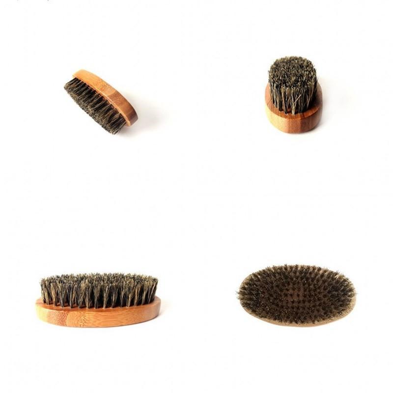 الخشب البيضاوي فرشاة الوجه لا مقبض phylstachys buar briestles الخبرة اللحية أدوات الاستمالة هدية فرش الشعر 4 8ZC G2