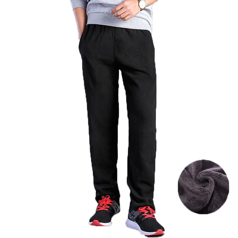 Hombre Casual deportes pantalones deportivos sueltos Pantalones de pista más terciopelo grueso pantalones de vellones de invierno Pantalones de entrenamiento de invierno Pantalones deportivos cálidos Hombres Joggers X1228