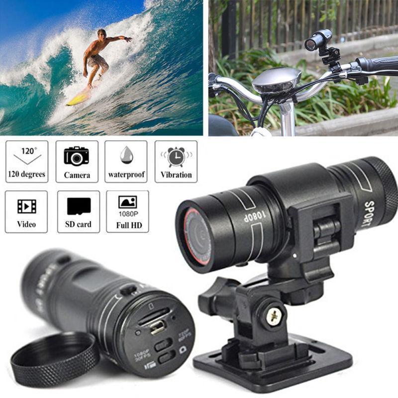HD 1080 P Spor Bisiklet Araba Taşınabilir Kamera F9 Motosiklet Kask USB Mini Kamera Video Gözetim Kaydedici DV CCTV Su Geçirmez LJ201209