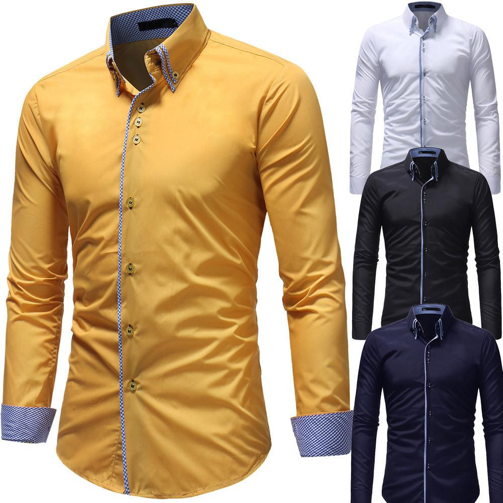 New Spring Long Sleeve Men's Casual Shirt Cotton Discount Men's Shirt 201022