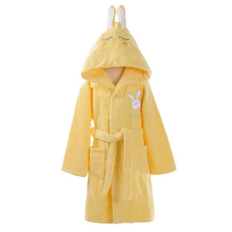 32 Style de coton peigné enfants de nuit Robe de coton chaud enfants Peignoir à capuche pour enfants Serviette de bain Robe de fille de garçon à capuche pour enfants Peignoir 201104