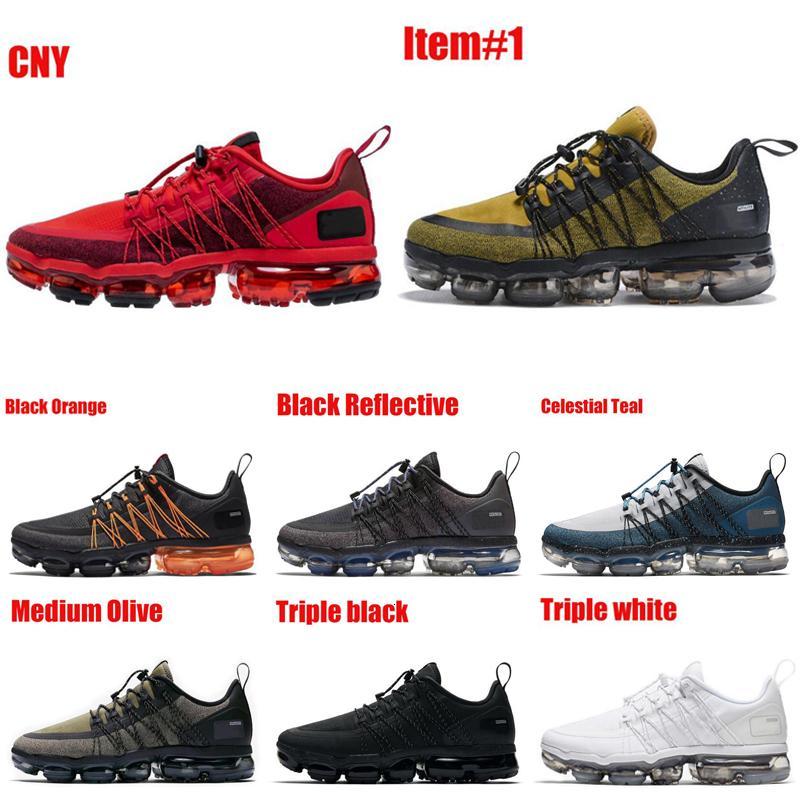 Moda Utility Hombres Mujeres Zapatos deportivos Medio Olive Tropical Twist Triple Negro Negro Reflexivo CNY Zapatos al aire libre Zapatillas de deporte transpirables