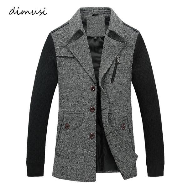DIMUSI Jackets Masculino Casual Exteriores Mid-Long Windbreker Coats Mens Cotton revestimento morno Overcoat Homens Trench Roupa 4XL, YA775 C1018