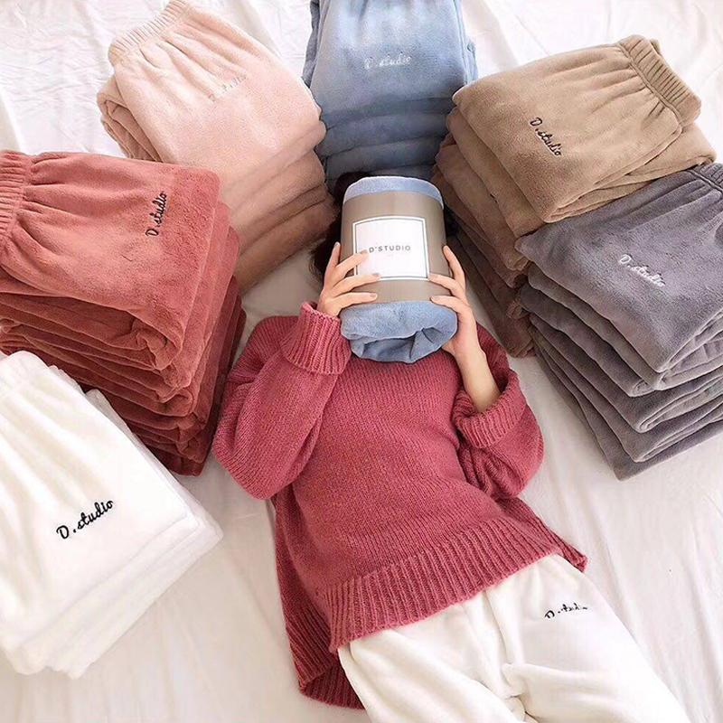 Hada calientes Deportes pantalones de invierno de las mujeres flojas ocasionales pijama Bottoms Casual Home Student Lazy Pantalones
