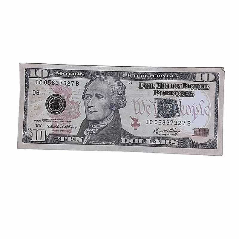 100 UNIDS / PACK COPY DE NIÑOS Película Barra de películas Envío de juguetes rápido Props Billetes de banco Americanos Moneda moneda de 1e DVEGH DLCUT