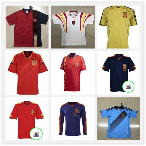 Retro Classic 2010 Spanien Fussball Jersey Star A.Inasta 6 Pique 3 Xavi 8 David Villa 7 Jerseys Football Sports Shirt Camiseta MOILL