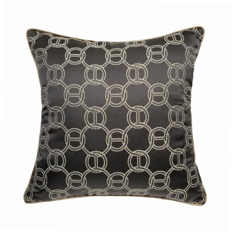 Yastık / Dekoratif Yastık Lüks Modern Geometri Koyu Kahverengi Zincirler Bel Ev Dekor Kanepe Sandalye Dokuma Lomber Yastıkları 30x50 cm 45x45 cm