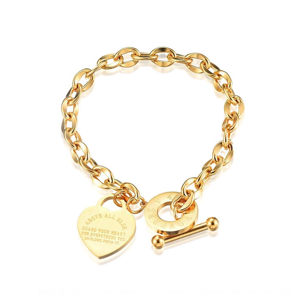 журнал мода одежда Bible Притчи 4 23 женщин из розового золота браслет Золотой браслет 3594b
