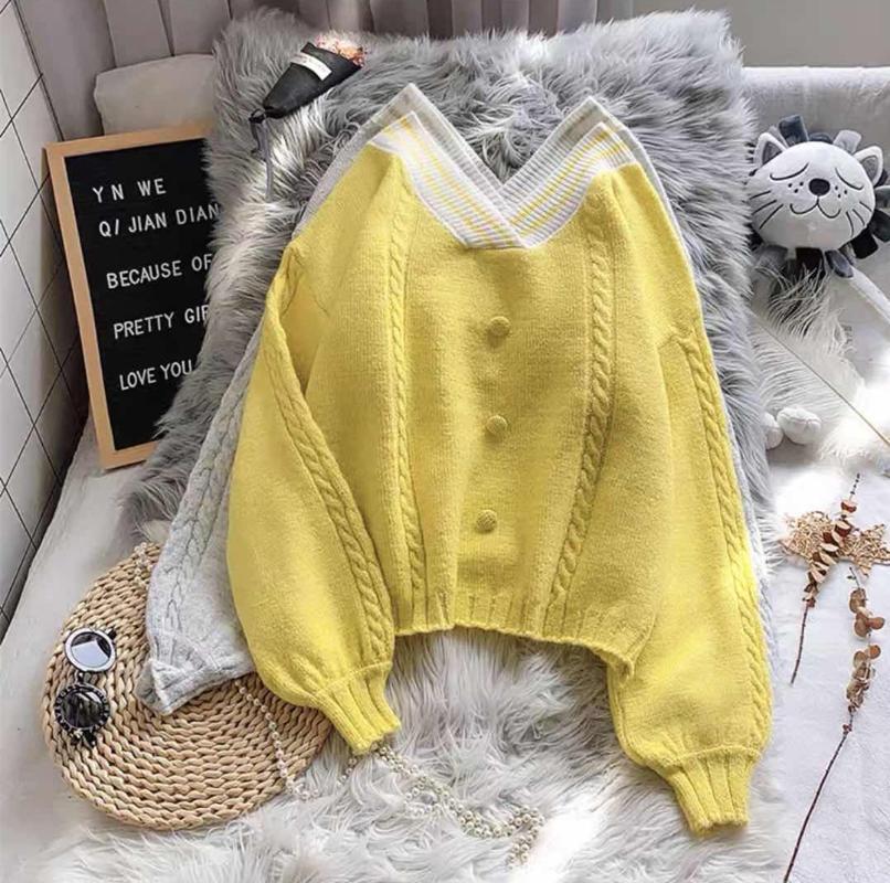 여성 스웨터 패션 2021 어깨 스웨터 여성 풀오버 따뜻한 겨울 니트 블랙
