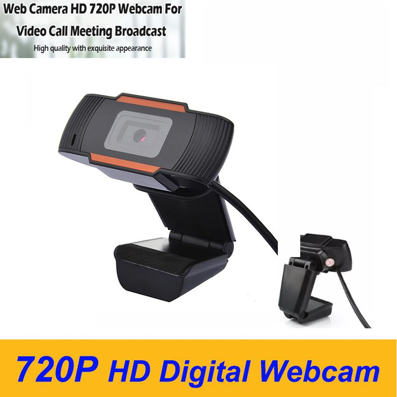 720P HD Digital Webcam Built-in Mic 1MP PC Laptop USB Charging for Online Studying Meeting Conference at Home in the office