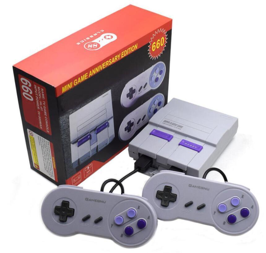 Neueste Ankunfts-Nes Mini-TV-Can Shop 660 Spielkonsole Videohandheld Spielekonsolen Wth Kleinkasten-Paket