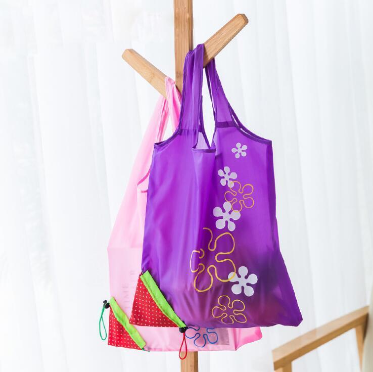 Süße Erdbeereinkaufstasche Wiederverwendbare Umweltfreundliche Einkaufen Tasche Tragbare Folding Aufbewahrungstaschen Beutel Supermarkt Tragetaschen EEF4789