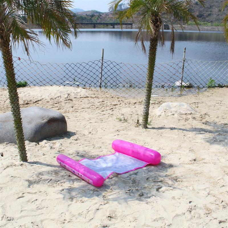 패션 플로팅 침대 풍선 메쉬 플로트 뗏목 접기 물 해먹 라운지 수영장 비치 플레이 도구 인기있는 12gd D2