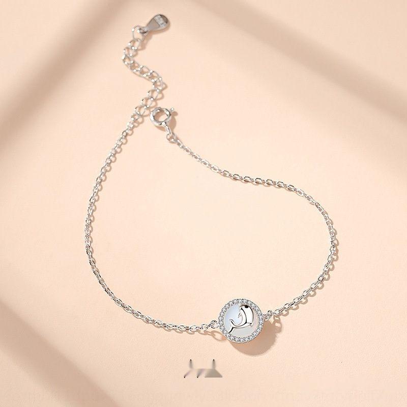 Браслет Baoyilong Sterling Silver Dolphin женщины Ins дизайн меньшинства Корейского персонализированные простой ручной ювелирные изделия подарок Браслет braceletNational