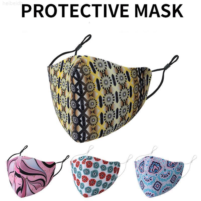 Máscara floral lavable DHL Máscara de algodón impreso adulto a prueba de polvo transpirable protección de ciclismo exterior cubierta cara boca envío kimter-l7c oxap