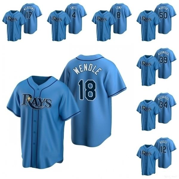 Tampa Bay \ rRays \ Rmen Trevor Richards Austin Meadows Joey Wendle Kevin Kiermaier Wade Boggs Donne alternativo Jersey di baseball giovanile