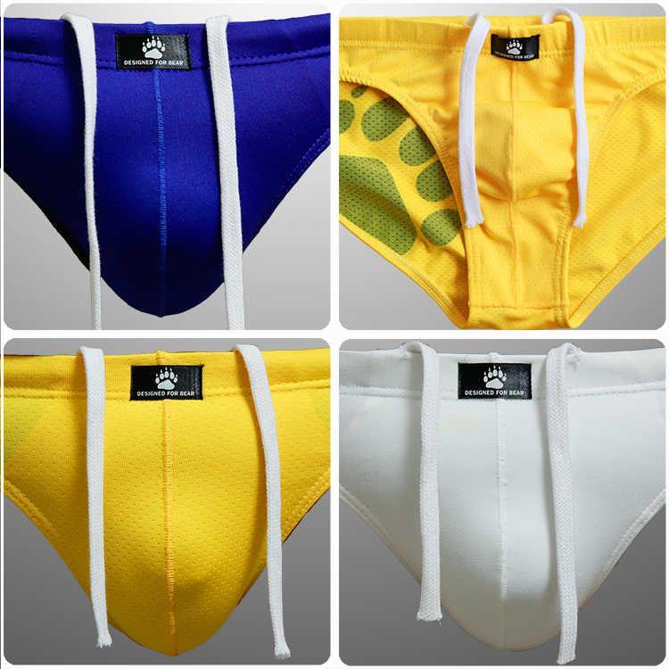 Orso da uomo PAW PAW PLUS Swimwear Triangolare Dimensioni Briefs Trunks Orso gay Slip a vita bassa per orso 6 colori m l xl xxl