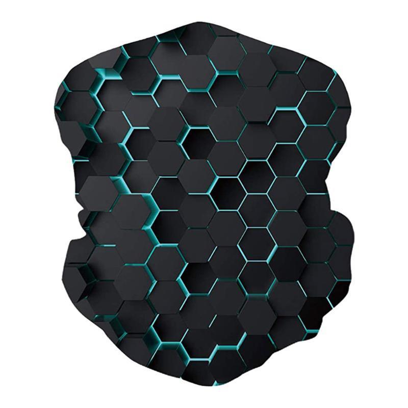 Mariposa de impresión en 3D de la bufanda bufandas a prueba de polvo Máscara pañuelo unisex al aire libre a prueba de viento de la venda de la bufanda de cuello de Protección Solar Media cara