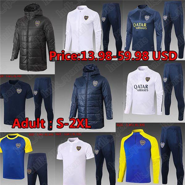 2021 Maradona Boca Juniors Soccer Jersey سترة رياضية مجموعات الكبار الرجال الشتاء جاكيتات القطن مبطن الملابس camisetas التدريب بولو