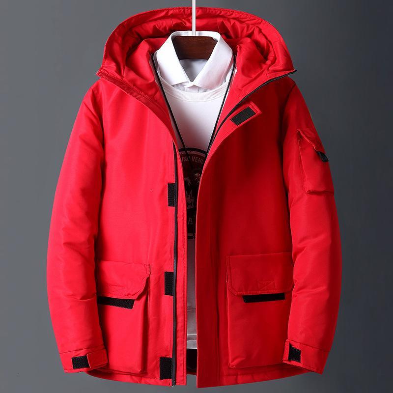 Blanc Marque Hommes Workwear New Style Jeune Puffer Veste courte Thicken extérieur chaud manteau d'hiver vers le bas