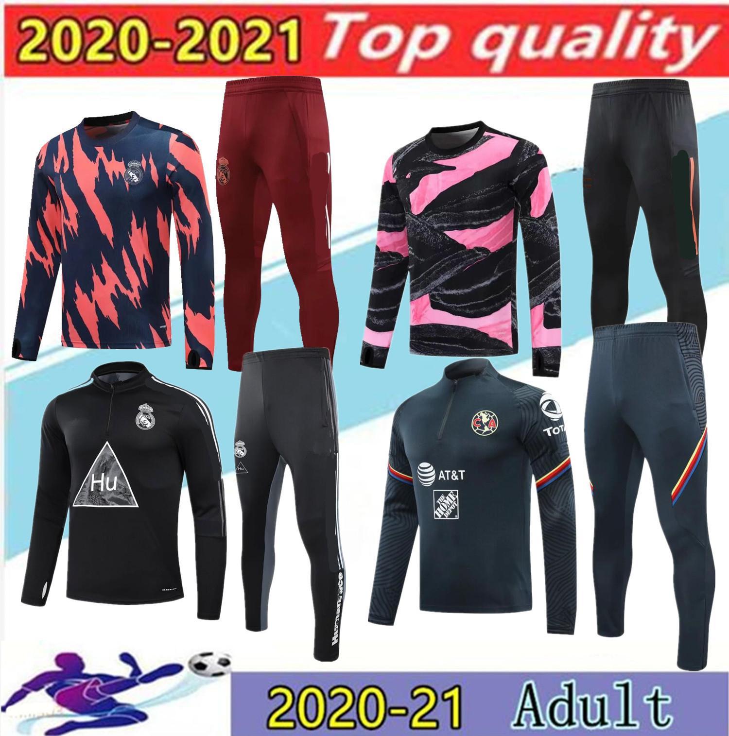 2020 ريال مدريد كرة القدم رياضية survetement 20 21Paris أمريكا سترة كرة القدم التدريب دعوى القدم تشاندال فوتبول الركض مجموعة