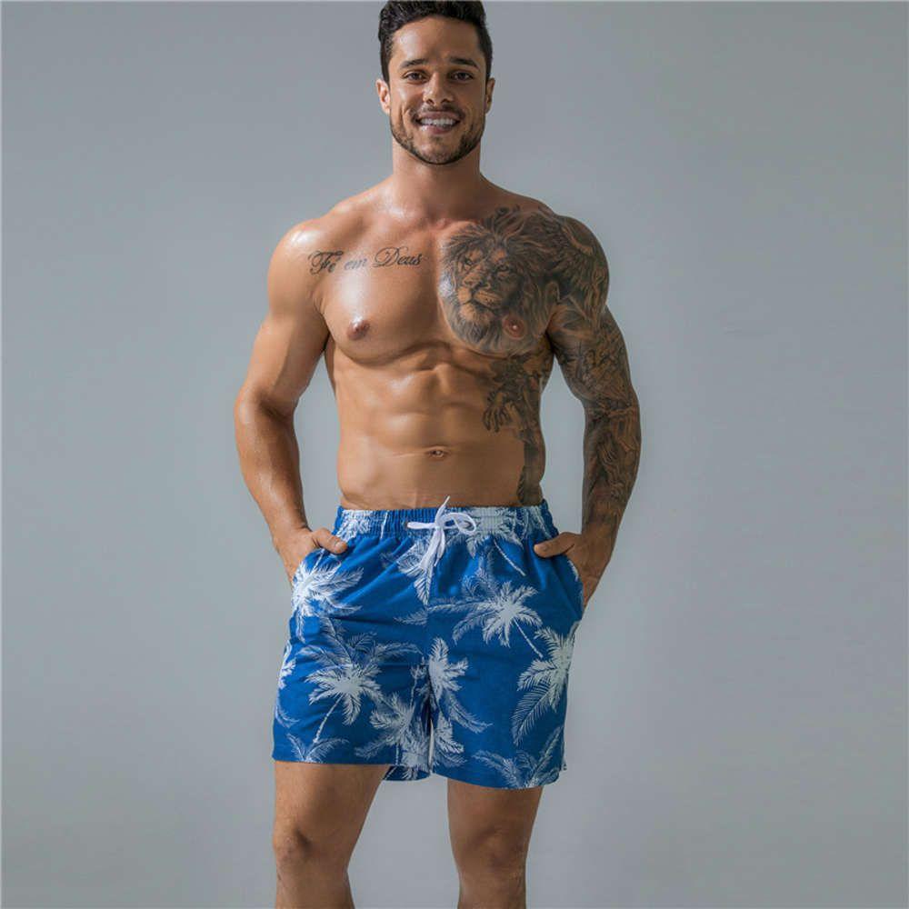 Z41 быстрый сухой мужской бренд печати пляжные брюки мужские повседневные шорты плавать сундуки бегущий спортивный тренажерный зал мужские плюс размер купальники сексуальные купальники